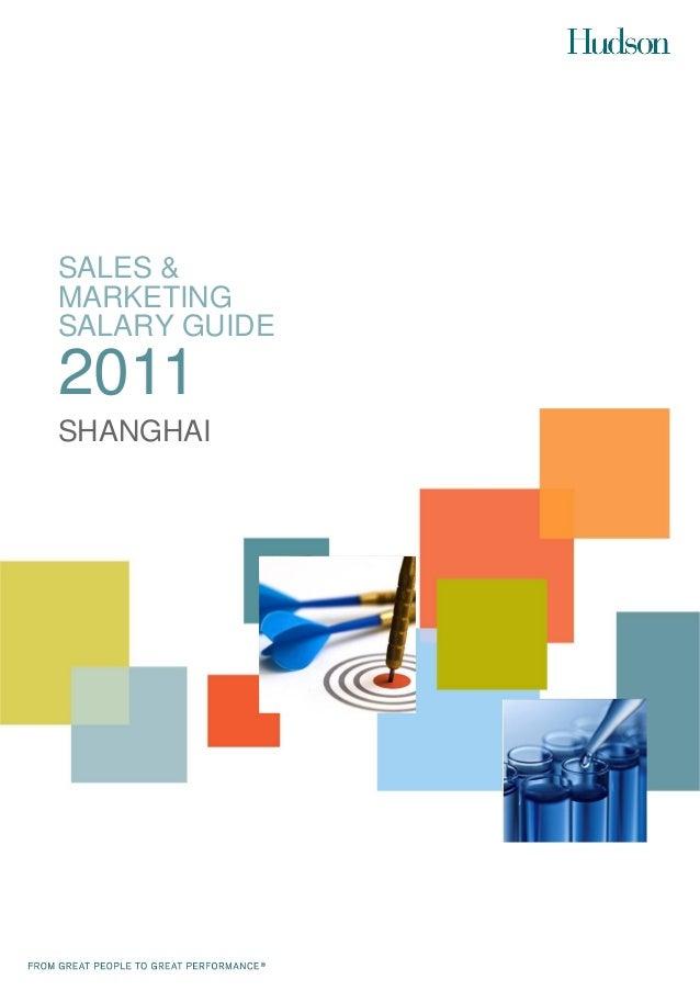 SALES &MARKETINGSALARY GUIDE2011SHANGHAI