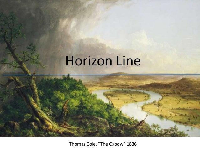 Drawing Using Horizon Lines : Hudson river school landscape drawing