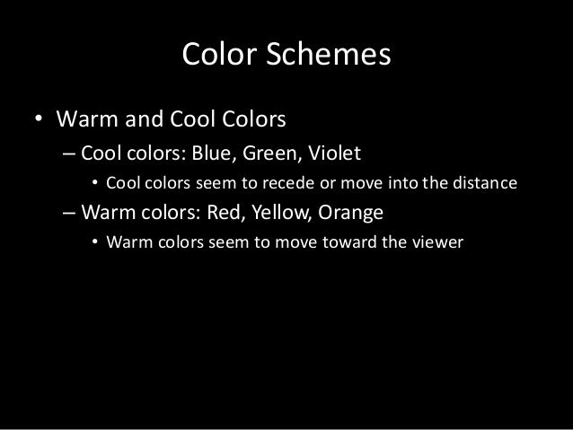 Color Schemes O Warm And Cool
