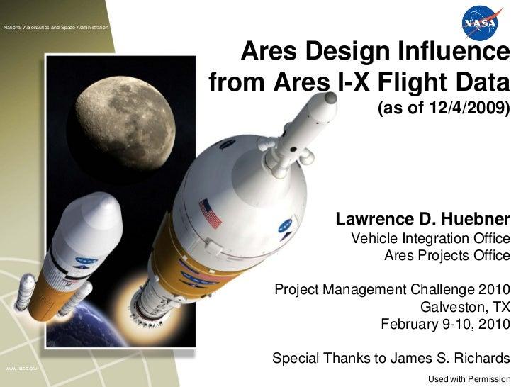 National Aeronautics and Space Administration                                                   Ares Design Influence     ...