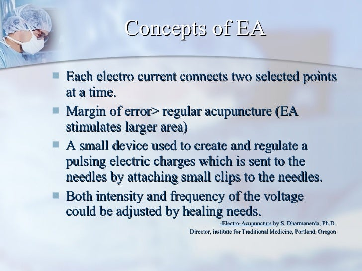 Concepts of EA <ul><li>Each electro current connects two selected points at a time. </li></ul><ul><li>Margin of error> reg...