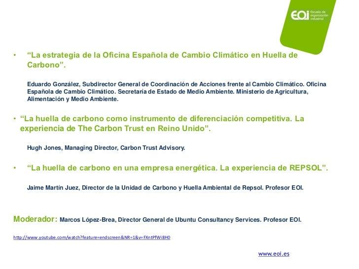 Marcos l pez brea la huella de carbono como factor clave de la compe - Oficina espanola de cambio climatico ...