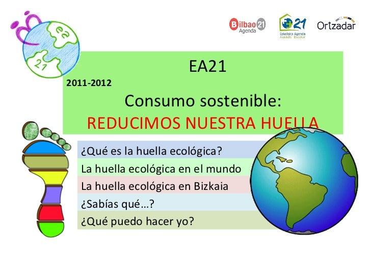 ¿Qué es la huella ecológica? La huella ecológica en el mundo La huella ecológica en Bizkaia ¿Sabías qué…? ¿Qué puedo hacer...