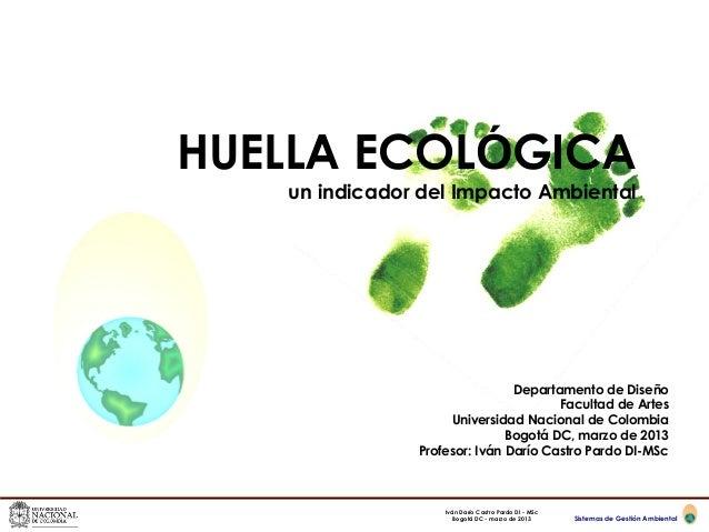HUELLA ECOLÓGICA   un indicador del Impacto Ambiental                               Departamento de Diseño                ...