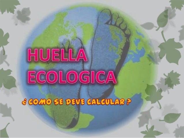  La huella ecológica es un indicador de  sostenibilidad de índice único, desarrollado  por Rees y Wackernagel en 1996, qu...