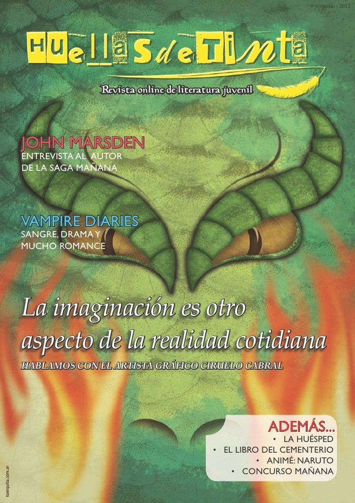 junio · 2012               Revista online de literatura juvenilJOHN MARSDENENTREVISTA AL AUTORDE LA SAGA MAÑANAVAMPIRE DIA...
