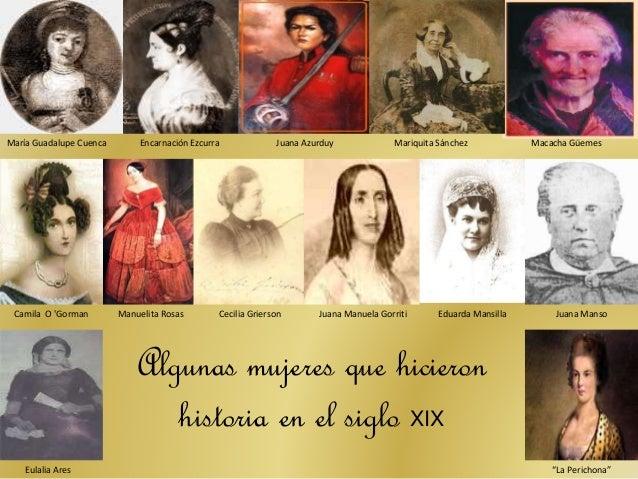 Resultado de imagen para MUJERES ARGENTINAS DEL SIGLO XIX
