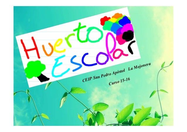 CEIP San Pedro Apóstol La Mojonera Curso 15-16