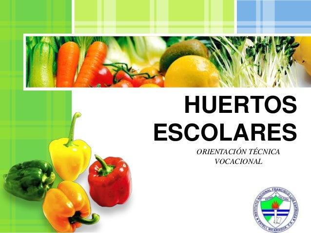 HUERTOSESCOLARES  ORIENTACIÓN TÉCNICA      VOCACIONAL               L/O/G/O