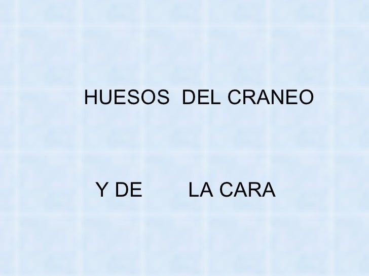 <ul><li>HUESOS  DEL CRANEO   </li></ul><ul><li>Y DE  LA CARA </li></ul>
