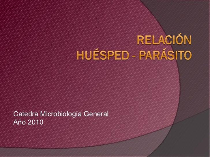 Catedra Microbiología GeneralAño 2010