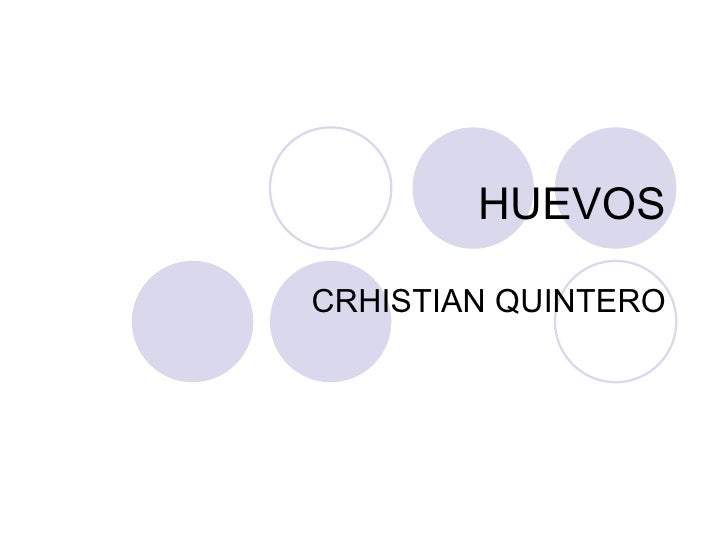 HUEVOS CRHISTIAN QUINTERO
