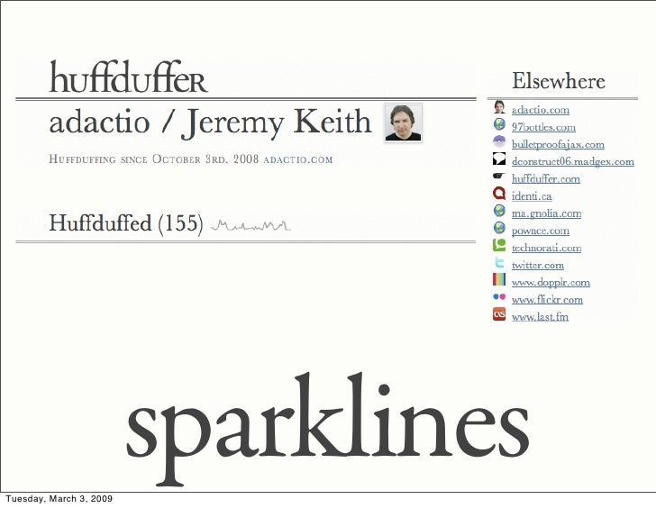 sparklines Tuesday, March 3, 2009
