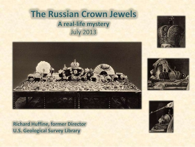 "Breaking the News • December 18, 2012 – USGS Press Release ""Tracking the Story of the Russian Crown Jewels"" – Included a 6..."