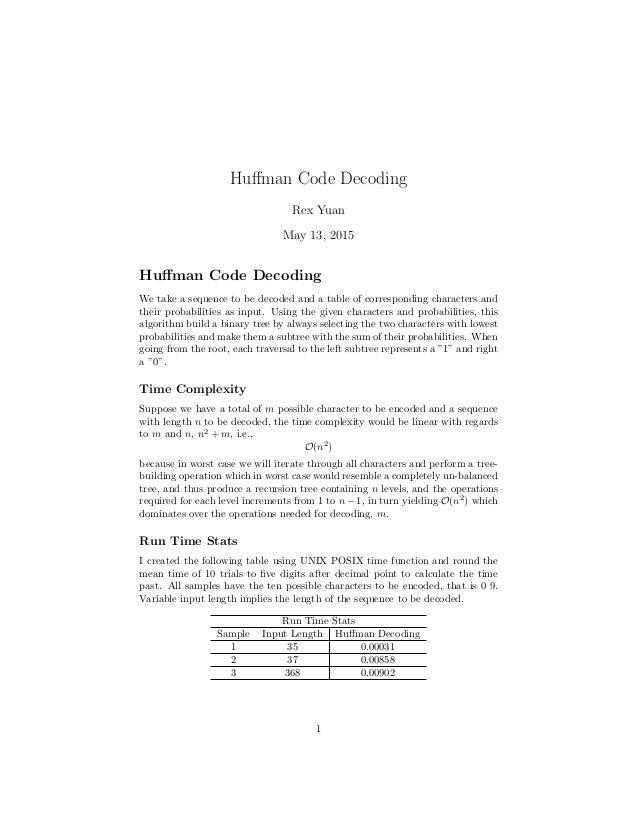 Huffman Code Decoding