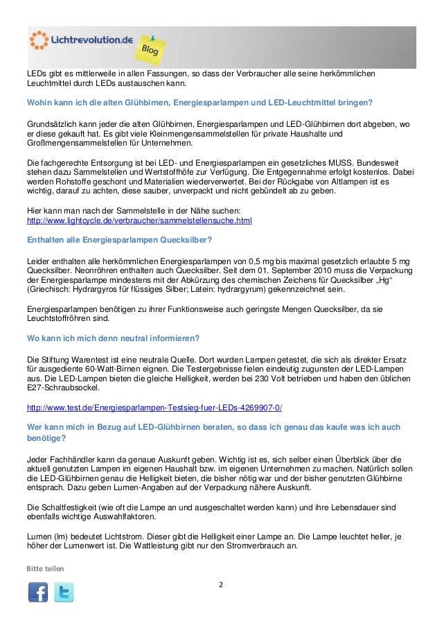 Charmant Led Lampen Stiftung Warentest Bilder - Die Besten ...