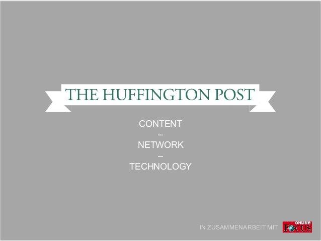 CONTENT – NETWORK – TECHNOLOGY IN ZUSAMMENARBEIT MIT