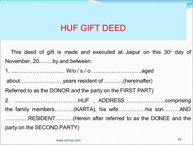 Sample Deed Of Gift Form  Samples Examples Format Sample In