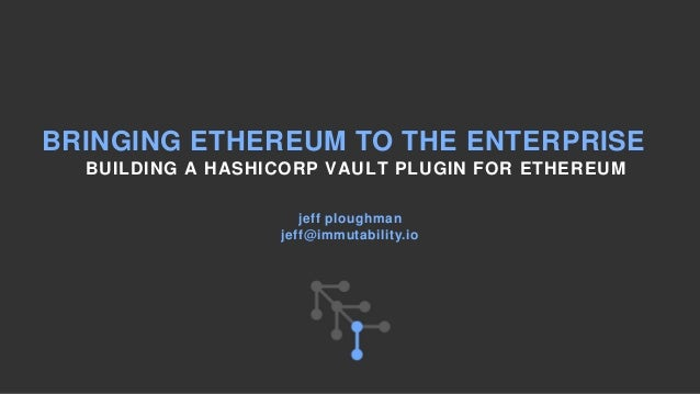 Building an Ethereum Wallet using Hashicorp Vault