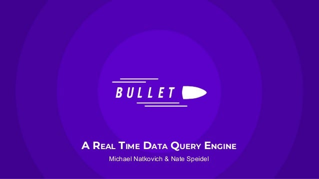 A REAL TIME DATA QUERY ENGINE Michael Natkovich & Nate Speidel