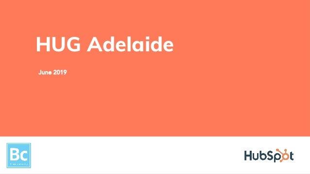 June 2019 HUG Adelaide