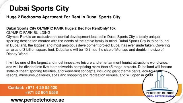 Huge 2 bedrooms apartment for rent in dubai sports city