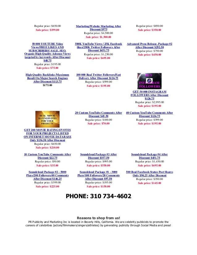 Social Media Marketing and Publicity for Actors/ Filmmakers