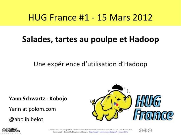 HUG France #1 - 15 Mars 2012    Salades, tartes au poulpe et Hadoop         Une expérience d'utilisation d'HadoopYann Schw...