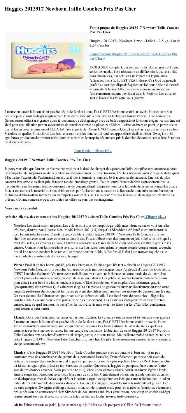 Huggies 2013917 Newborn Taille Couches Prix Pas Cherà mettre en œuvre la lotion, nont pas été déçus de lenfant à tous, Fai...