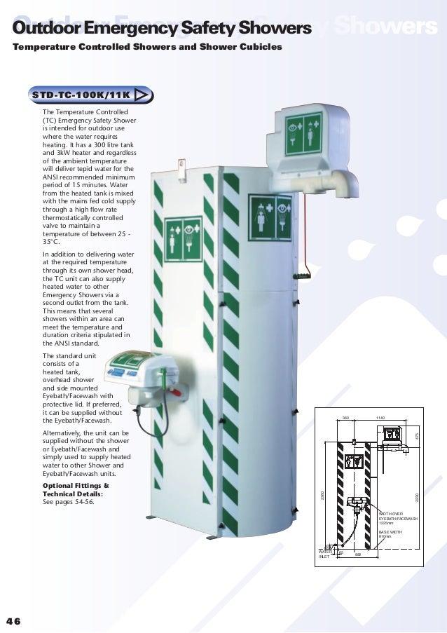Safety Shower Heated : Hughes emergency safety showers eyebaths definitive