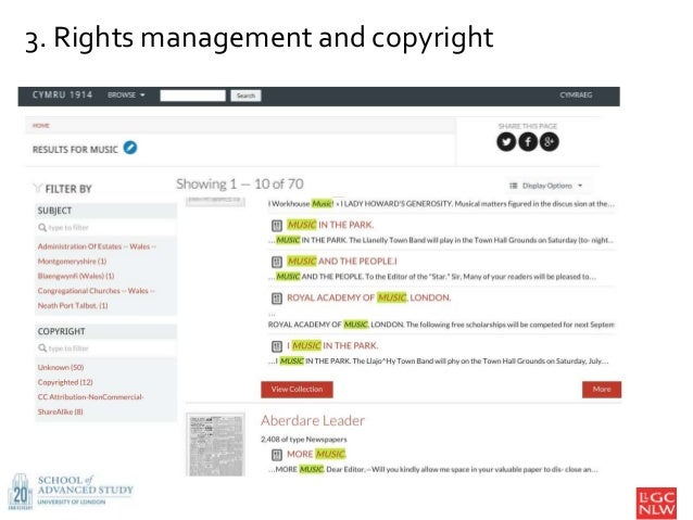 3. Rights management and copyright