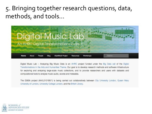 5. Bringing together research questions, data, methods, and tools…