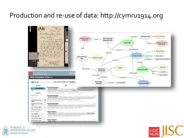 Production and re-use of data: http://cymru1914.org 5