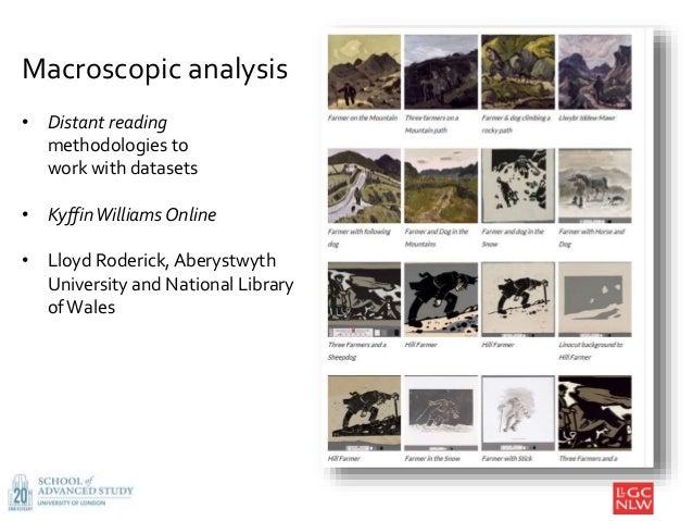 8 Macroscopic analysis • Distant reading methodologies to work with datasets • KyffinWilliams Online • Lloyd Roderick, Abe...