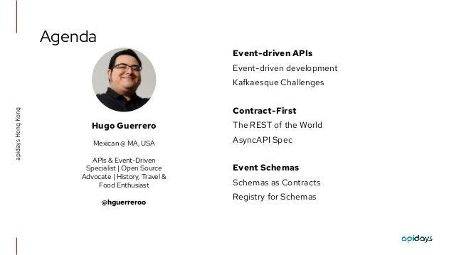 apidays LIVE Hong Kong 2021 - Event-driven APIs & Schema governance for Apache Kafka by Hugo Guerrero, Red Hat Slide 2