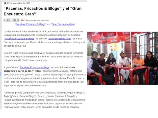 """Presentacion: """"Historia del Internet en Bolivia desde los ojos de un internauta"""""""