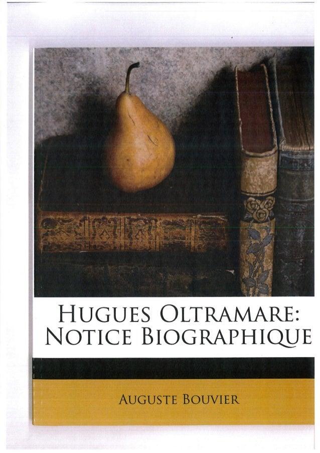 Hugues Oltramare par Auguste Bouvier