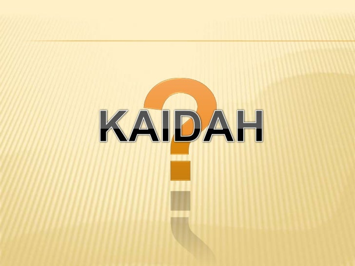 Image result for Kaidah