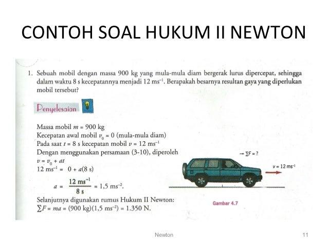 Hasil gambar untuk gambar hukum 2 newton