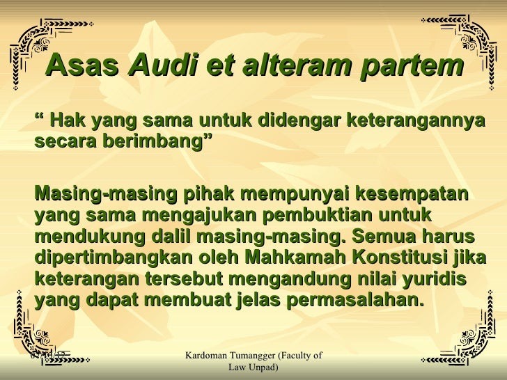 audi alteram partem Pronunciation of audi alteram partem how to say audi alteram partem with audio by macmillan dictionary.