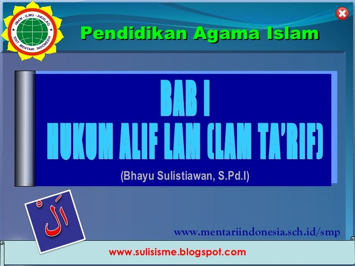 Pendidikan Agama Islam                       (Bhayu Sulistiawan, S.Pd.I)                                  www.mentariindon...