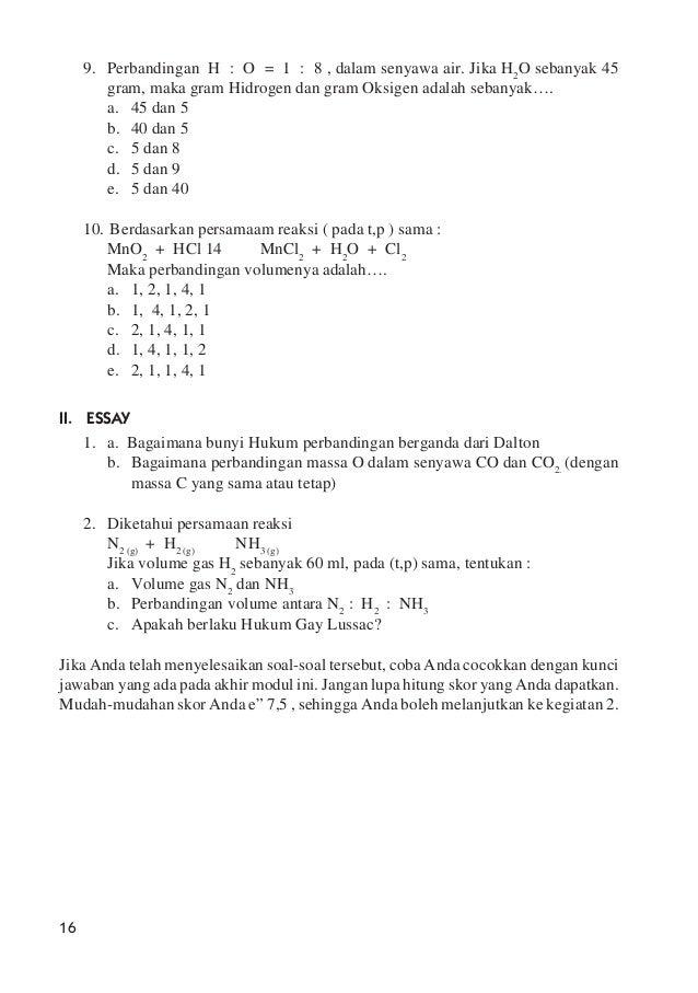 Hukum Dasar Kimia Dan Perhitungan Kimia