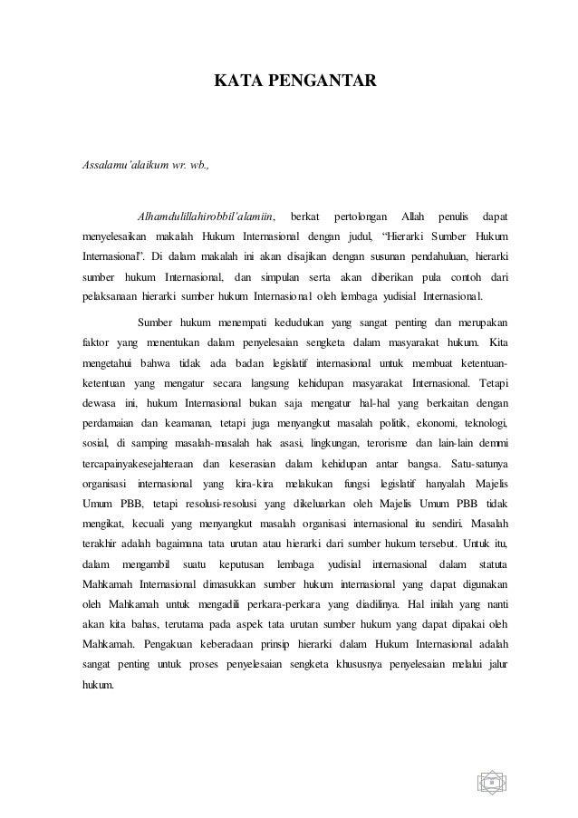 Contoh Kata Pengantar Hukum Internasional Download Contoh Lengkap Gratis