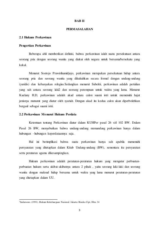 Makalah Hukum Perkawinan Di Indonesia