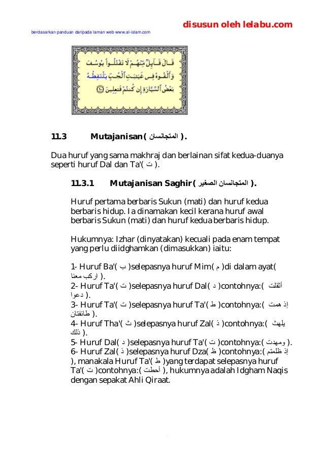 Hukum Tajwid Tanda Baca