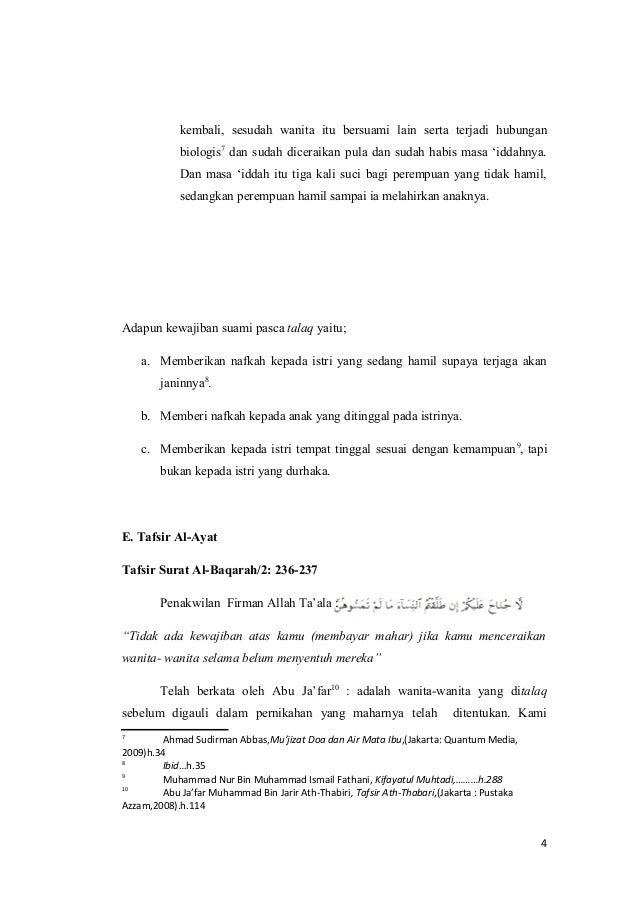 Hukum Talak Dan Kewajiban Suami Pasca Talaq