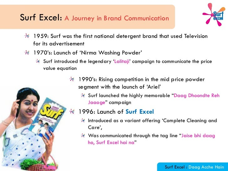 Brand positioning and marketing of surf excel in india