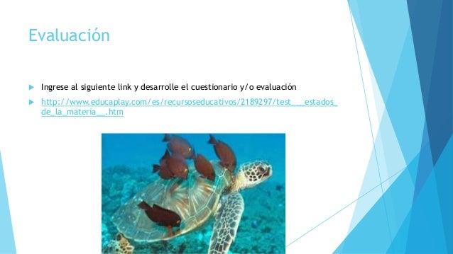 Evaluación  Ingrese al siguiente link y desarrolle el cuestionario y/o evaluación  http://www.educaplay.com/es/recursose...