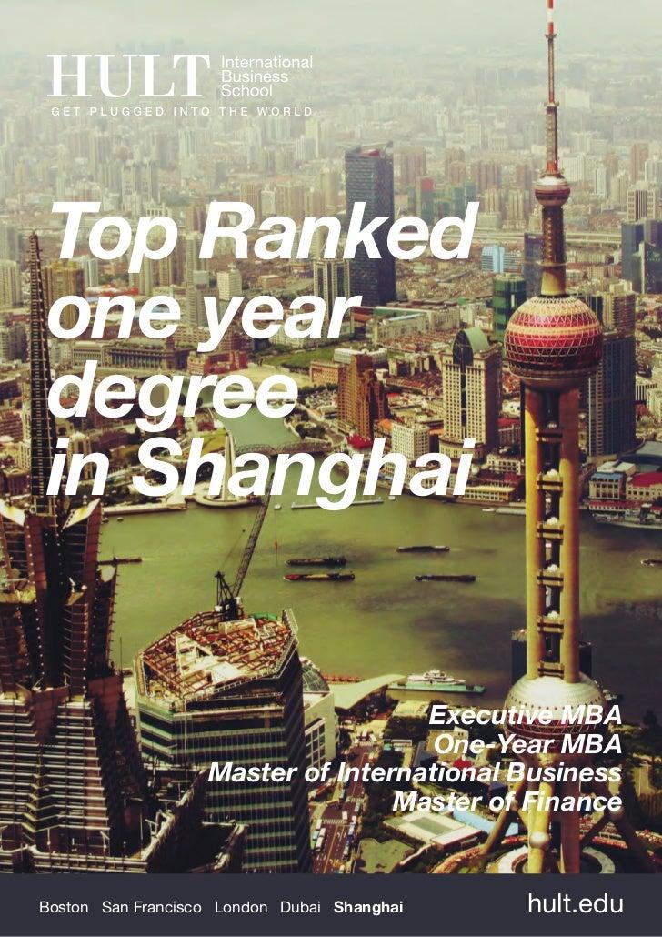 Top Rankedone yeardegreein Shanghai                                    Executive MBA                                     O...