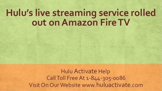 Hulu's live streaming service rolled out on Amazon Fire TV